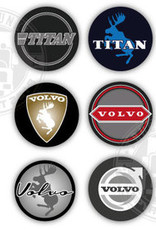 3D Deluxe  Full Print Sticker Volvo - Set van 6