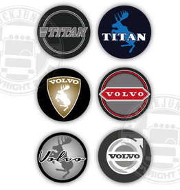 3D Deluxe Full Print Sticker Volvo - Set of 6
