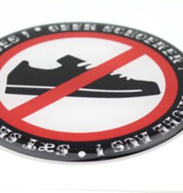 Keine Schuhe - 3D Deluxe Full Print Sticker