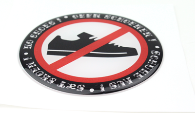 No Shoes - 3D Deluxe Full Print Sticker