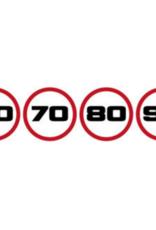 Geschwindigkeitsaufkleber 60 - 70 - 80 - 90