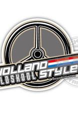 Holland Old Skool Style - Rad - Volldruckaufkleber