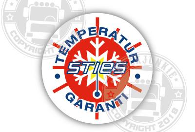 Sties Temperature Garanti - Volldruckaufkleber