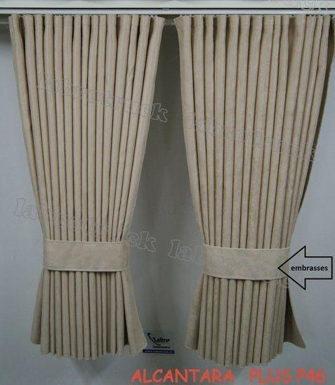 Alacantara Seitenvorhänge Alacantara 90 cm