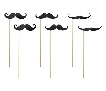 Party Deco Party Prop - Prop Moustache ( 6 pieces )