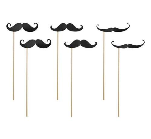 Party Deco Party Prop - Prop Moustache ( 6 pieces )