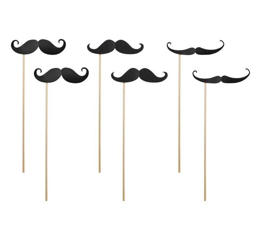 Party Prop - Prop Moustache ( 6 pieces )