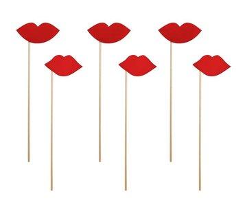 Party Deco Party Prop - Lèvres sur un bâton( 6 pieces )