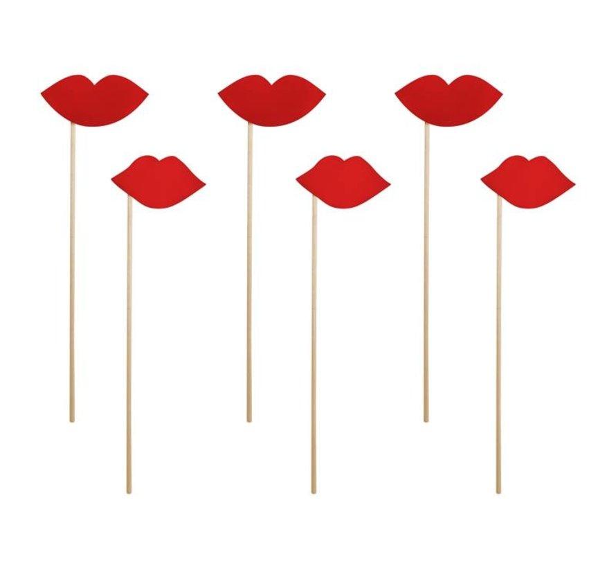 Party Prop - Prop Lips ( 6 pieces )