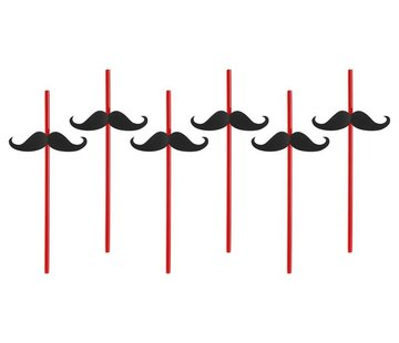 Party Deco Party Straw - Straw Moustache ( 6 pieces )