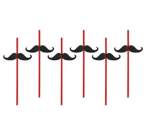 Party Deco Party Straw  - Paille Moustache( 6 pieces )