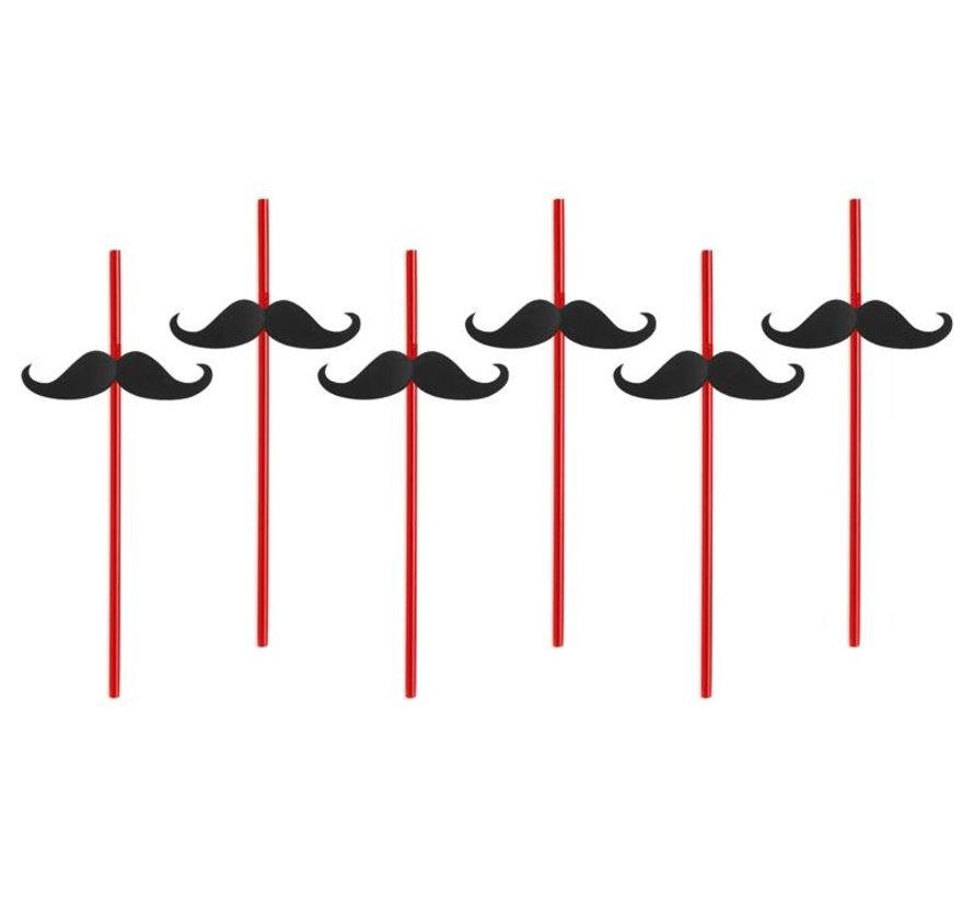 Party Straw  - Paille Moustache( 6 pieces )