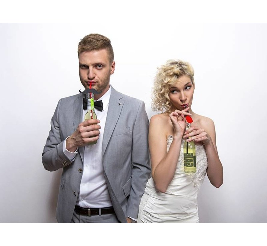 Party Straw - Rietje met snor ( 6 stuks )