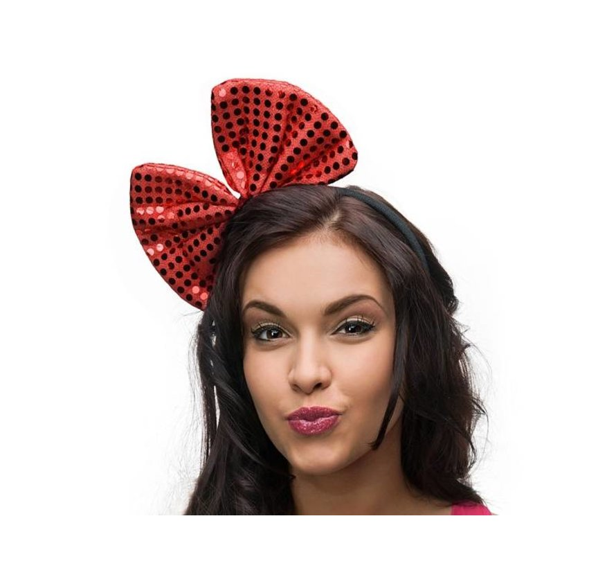 Headband with a Red bow