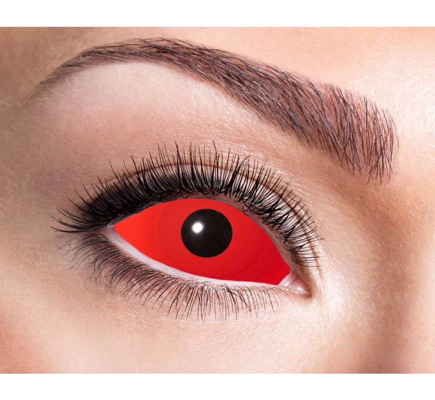 Full Red Eye lentilles Sclera 22 mm