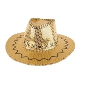 Partyline Cowboyhoed met pailletten goud