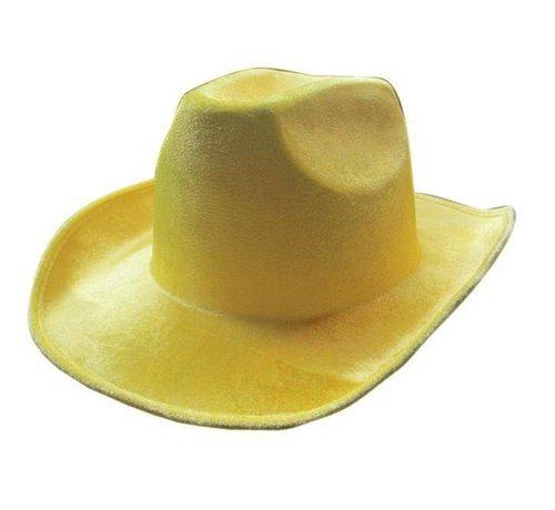 Partyline Hoed Cowboy Neon Geel