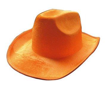 Partyline Hoed Cowboy Neon Oranje