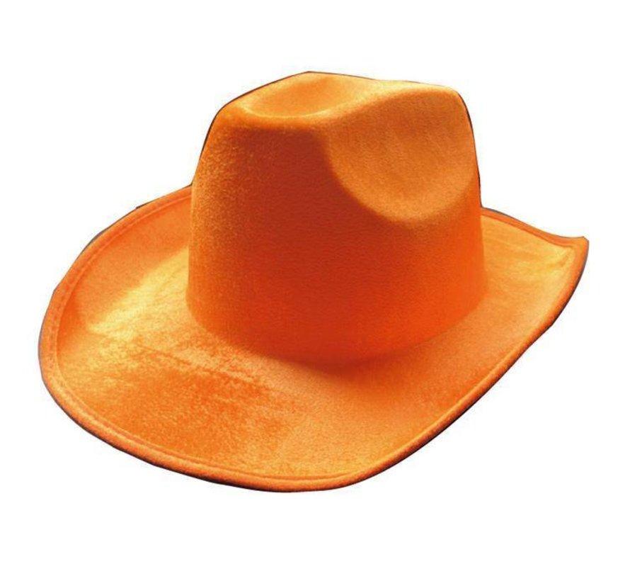Hoed Cowboy Neon Oranje