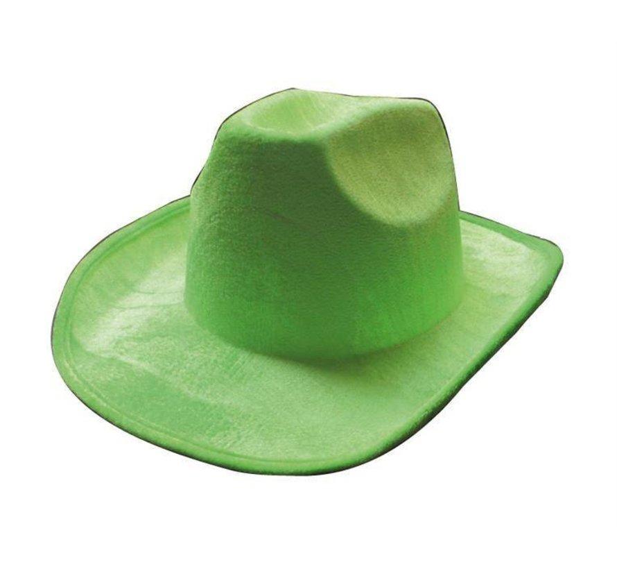 Chapeau de cowboy vert néon