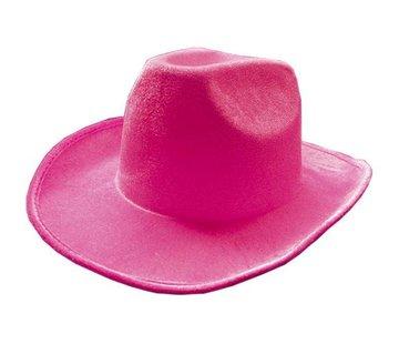 Partyline Hoed Cowboy Neon Roze