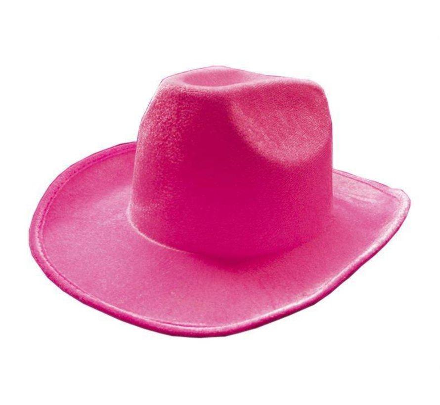 Hoed Cowboy Neon Roze