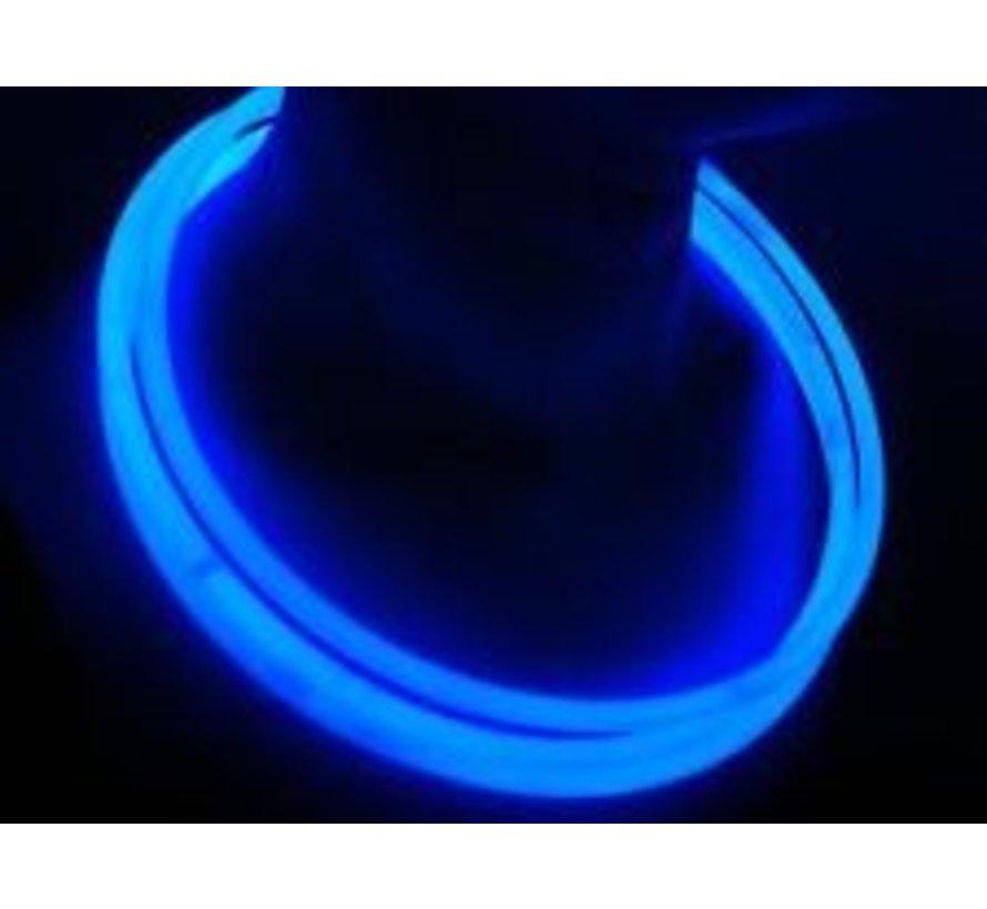 """22"""" Glow Halskettingen Blauw"""