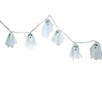 Partyline Deco Garland Ghost 170 cm LED | Halloween decoration