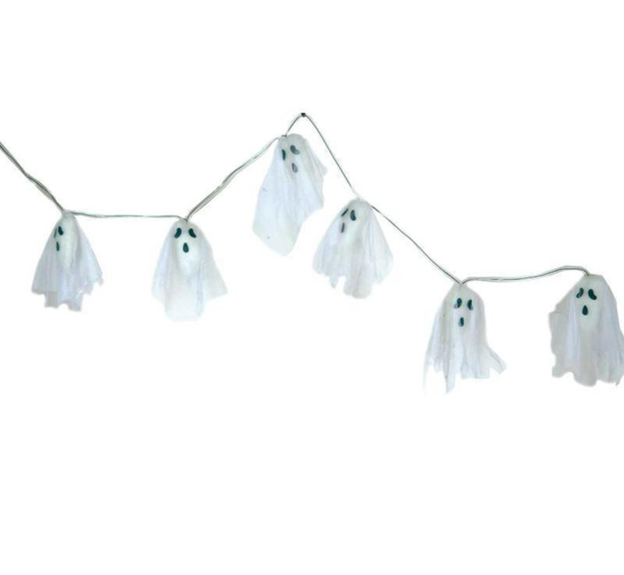 Deco Garland Ghost 170 cm LED | Halloween decoration