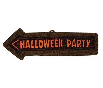 Partyline Panneau Fleche Halloween Party | Décoration Halloween