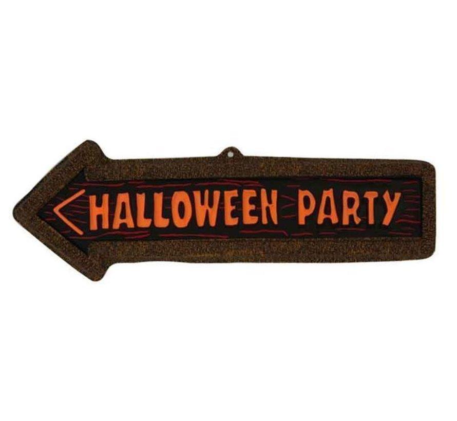 Deco bord Pijl Halloween Party | Halloween decoratie