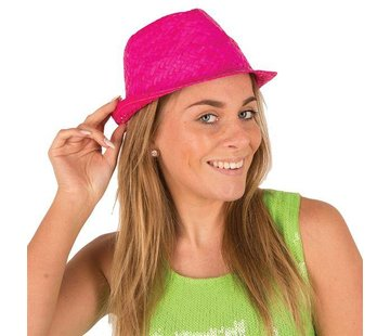Partyline Funk Straw Hat Fuchsia | Hawai Hat