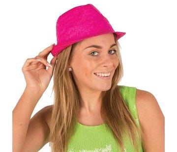 Partyline Funk Straw Hat Fuchsia