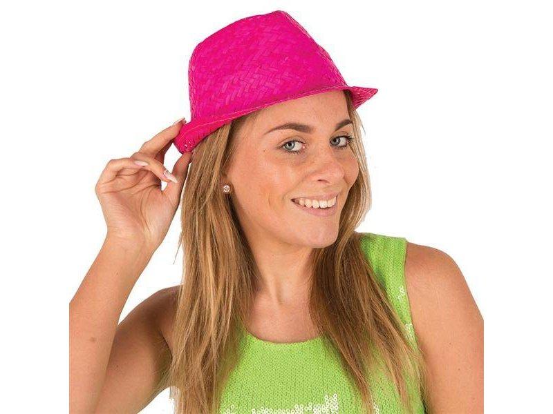 Funk Straw Hat Fuchsia