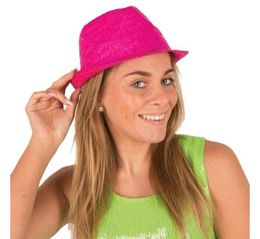 Funk Straw Hat Fuchsia | Hawai Hat