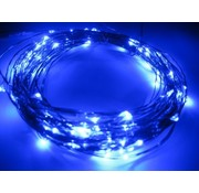 Breaklight.be HighBrite 40 Led Ketting 2 m op batterijen - Blauw