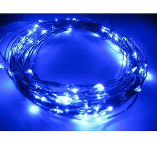 Breaklight.be HighBrite 40 Led Ketting 2 m op batterijen - Blauw