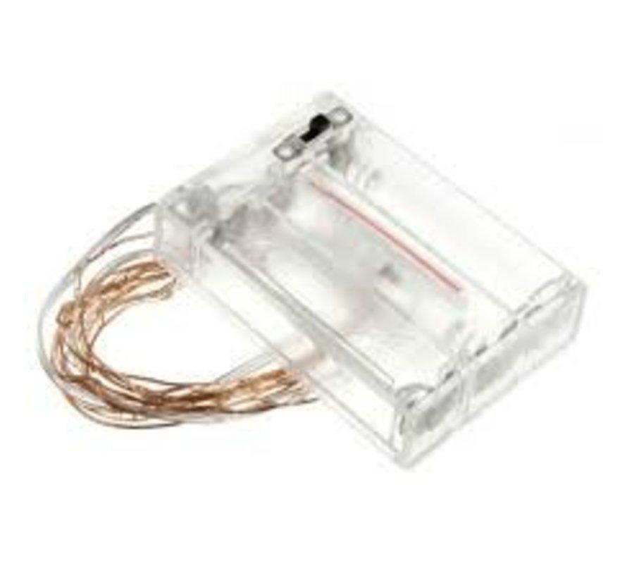 HighBrite 40 Led Cord 2 m on battery - White