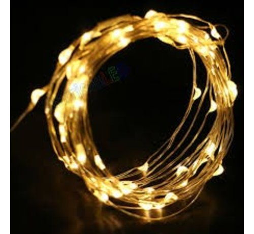 Breaklight.be HighBrite 40 Led Cord 2 m on battery - Yellow