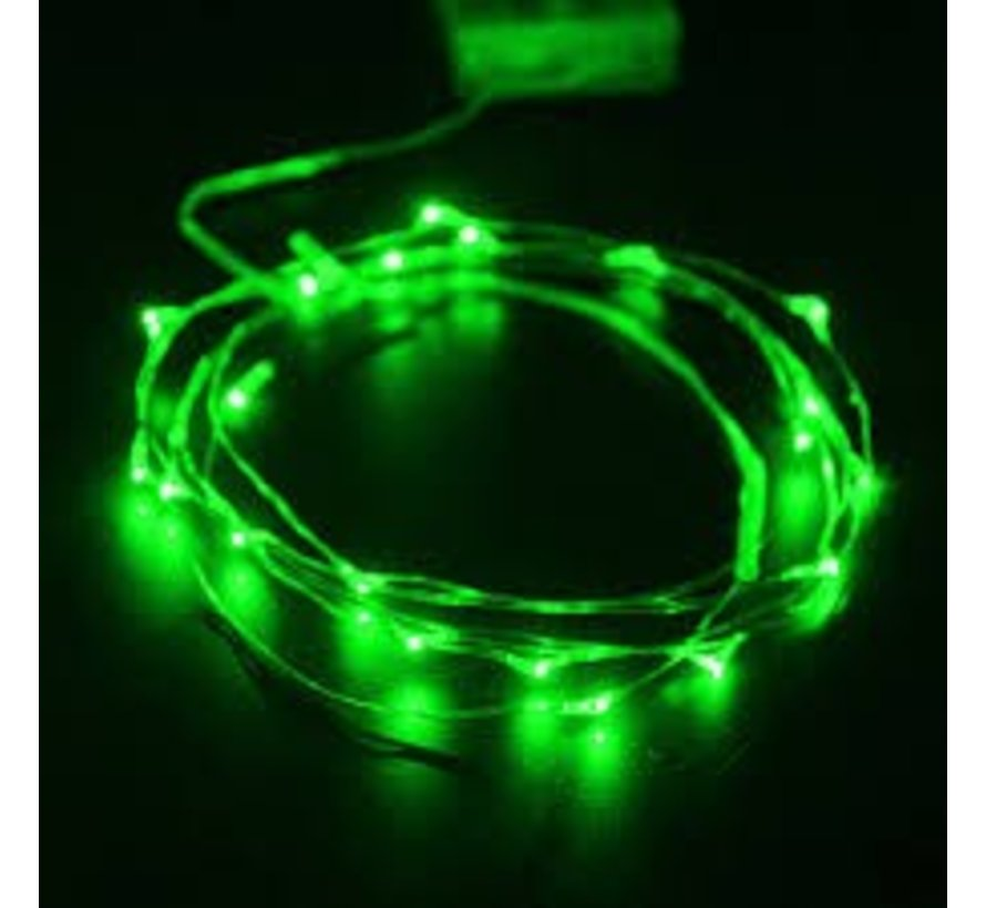 HighBrite 40 Led Cord 2 m on battery - Green