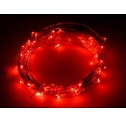 Breaklight.be HighBrite 40 Led Ketting 2 m op batterijen - Rood
