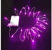 Breaklight HighBrite 40 Led Ketting 2 m op batterijen - Roze