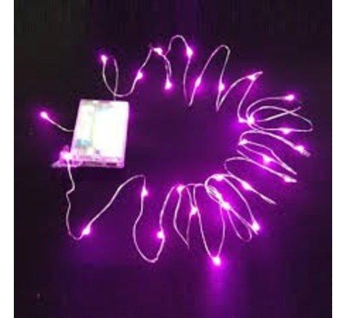Breaklight.be HighBrite 40 Led Guirlande 2 m on battery - Rose