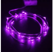 Breaklight.be HighBrite 40 Led Cord 2 m on battery - Purple