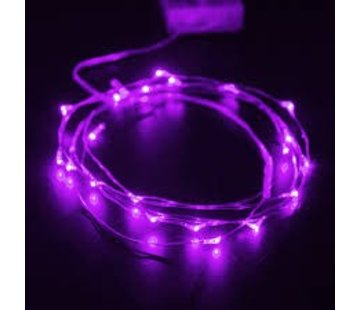 Breaklight.be HighBrite 40 Led Cord 2 m on battery - Purple