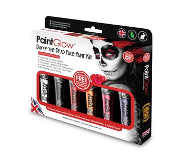 PaintGlow PaintGlow Day of the Dead face paint boxset