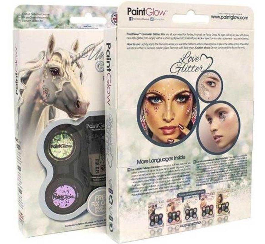 PaintGlow Unicorn Chunky glitter set