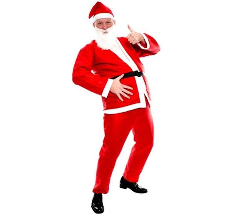 Basic Kerstman Kostuum    Rood Kerstman pak
