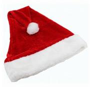 Partyline Bonnet de Noel en peluche | Bonnet de Noel rouge