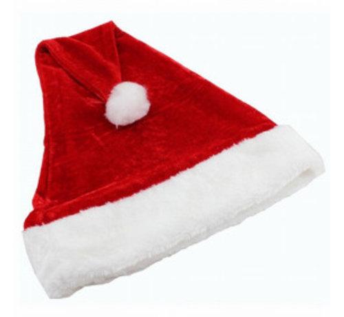 Partyline Pluche Kerstmuts   Rode Kerstmuts